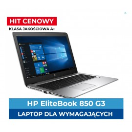 HP Elitebook 850 G3 i5-6300U | 8 GB DDR4 | 256 GB SSD | Ekran 15,6 | Full HD | Klasa A+