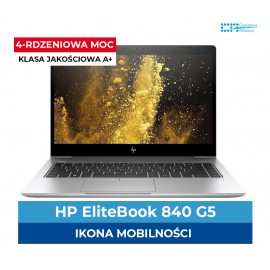 HP EliteBook 840 G5 Core i5-8350U | 8GB DDR4 | 256GB SSD M2 | Intel UHD 620 | Ekran 14.1″ Full HD IPS | Klasa A+