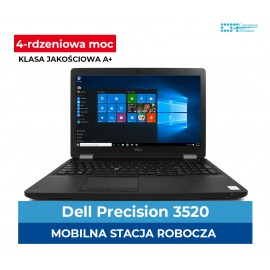 Dell Precision 3520 I5-7440HQ | 16GB DDR4 | 256 GB SSD | Quadro M620 2GB | Ekran 15.6″ Full HD | Klasa A+