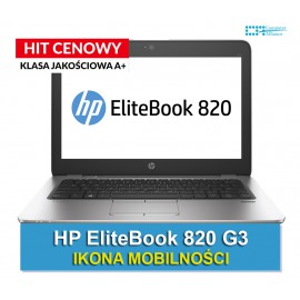 HP Elitebook 820 G3 i7-6500U | 8 GB DDR4 | 256 GB SSD | Ekran 12.5 Full HD IPS | Klasa A