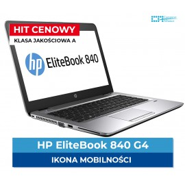 HP Elitebook 840 G4 i5-7200U | 8 GB DDR4 | 128 GB SSD | Ekran 14,1 | HD | Klasa A+
