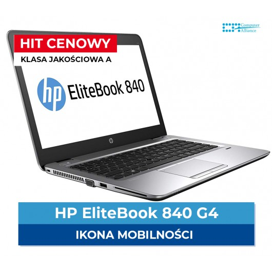 HP Elitebook 840 G4 i5-7200U | 8 GB DDR4 | 128 GB SSD | Ekran 14,1 ...