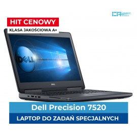 Dell Precision 7520 i7-7820HQ | 32 GB DDR4 | 512 GB SSD M.2 | M2200 4GB  | 15,5 Full HD IPS