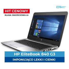 HP Elitebook 840 G3 i5-6300U | 8 GB DDR4 | 256 GB SSD | Ekran 14,1 | HD | Klasa A