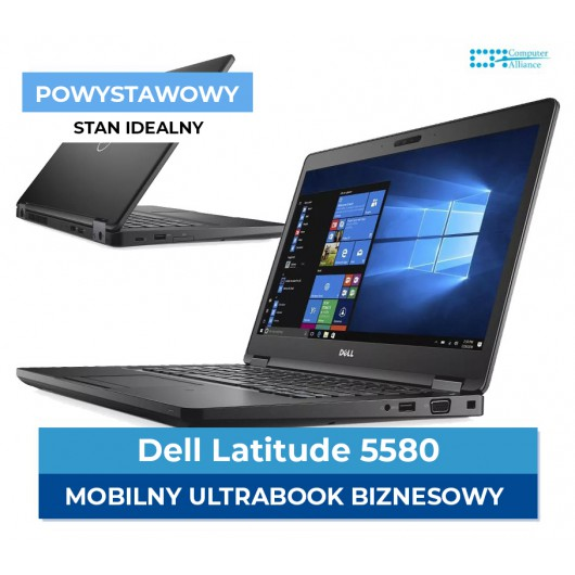 "Dell e5580 I5-7200u * 8 GB DDR4 * 256 GB SSD M.2 * 15"" Full HD IPS * Klasa A+"