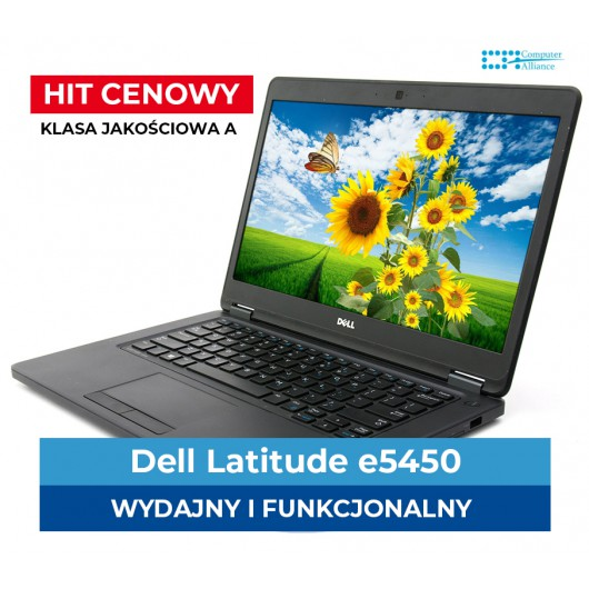 "Dell e5450 I5-5300u * 8GB * 500 GB * 14"" Full HD * Klasa A+"