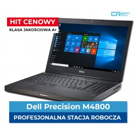 "Dell m4800 i7-4610M | 16 GB DDR3 | 256 GB SSD | K1100M 2 GB | Ekran 15"" Full HD 