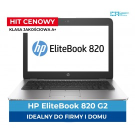 HP Elitebook 820 G2 i5-5300U | 8 GB DDR3 | 128 GB SSD | Ekran 12.5 HD | Klasa A
