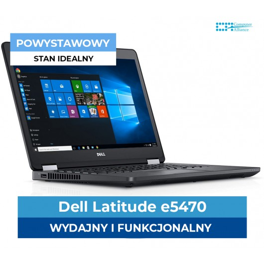 "Dell e5470 I5-6440HQ 4 rdzenie 3.50 Ghz * 8GB DDR4 * 256 SSD * 14"" Full HD IPS* Klasa A+"