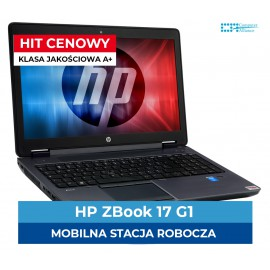 HP Z-Book 17 G1 Core i7-4800QM | 16 GB DDR3 | 512 GB SSD | Nvidia Quadro K3100 4 GB | Ekran 17.3″ Full HD | Klasa A-
