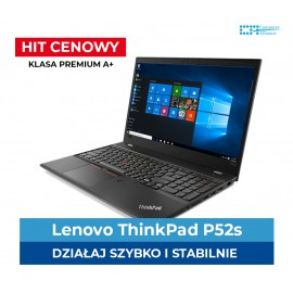 Lenovo ThinkPad P52s Core i7-8550u | 32 GB DDR4 | 512GB SSD | Quadro P500 2GB | Ekran 15″ Full HD IPS | Klasa Premium A+