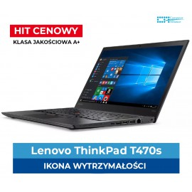 "Lenovo T470s Core i5-7300u | 8 GB DDR4 | 256 GB SSD M2 | Intel HD 620 | Ekran 14.1"" Full HD IPS 