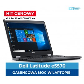 "Dell e5570 I7-6820HQ | 16 GB DDR4 | 256 GB SSD | AMD Radeon R7-M370 2GB | Ekran 15"" Full HD IPS Dotyk 