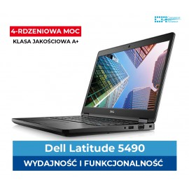 Dell e5490 Core I5-8350U | 8GB  | 256GB SSD M2 | Intel 620UHD | Ekran 14.1″ HD| Klasa A+