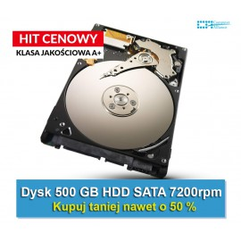 "Dysk do laptopa, noteboka HDD 500GB 2,5"" 7200rpm"